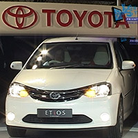 vsworld - Live webcast of Toyota launches at Auto Expo